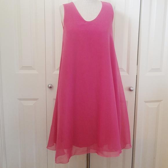 Lbisse Dresses & Skirts - LBISSE Pink Shift Dress, Flowy. NWT S